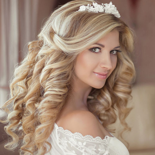 in salon bridal hair